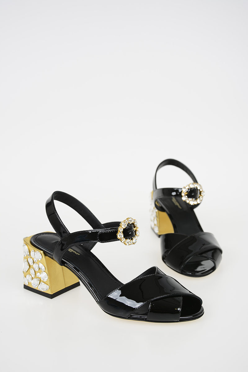 6c1ca47d5 Dolce   Gabbana 7 Cm Patent Leather KEIRA Sandals with Jewel Heel ...