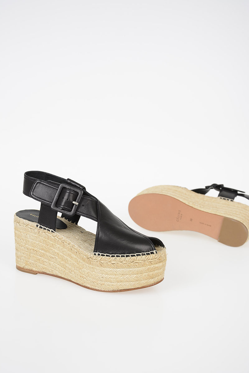 cebee1c56f02a Celine 8 cm Leather Wedges women - Glamood Outlet