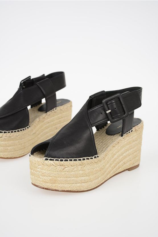 8 cm Leather Wedges