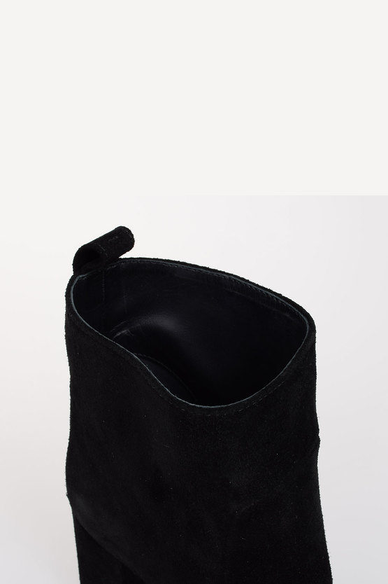 8 cm Suede Leather ANNA Ankle Boots