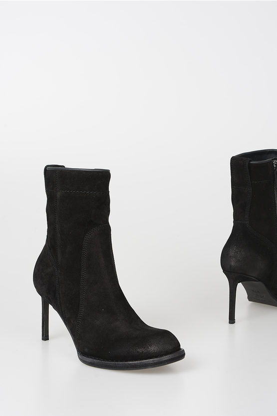 8cm Suede Leather Ankle Boots