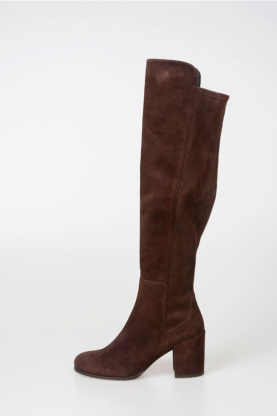 8cm Suede Leather Boots