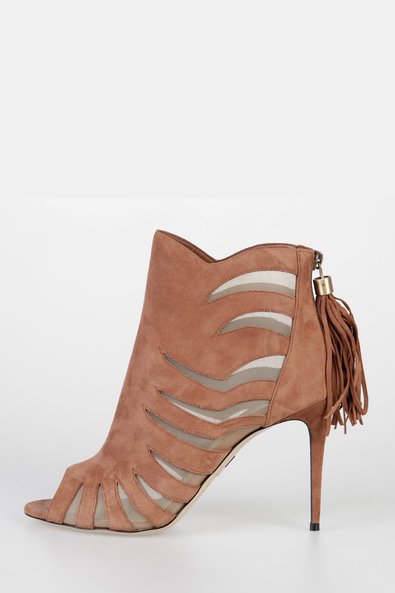 cheap wholesale price sast for sale Paul Andrew Suede Peep-Toe Booties cheap price store 2014 newest online 1Vvj6x0l