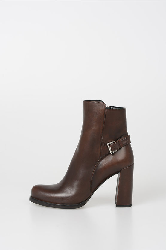 9cm Leather Ankle Boots