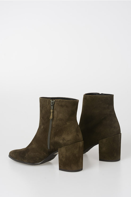 9cm Suede Leather Ankle Boots