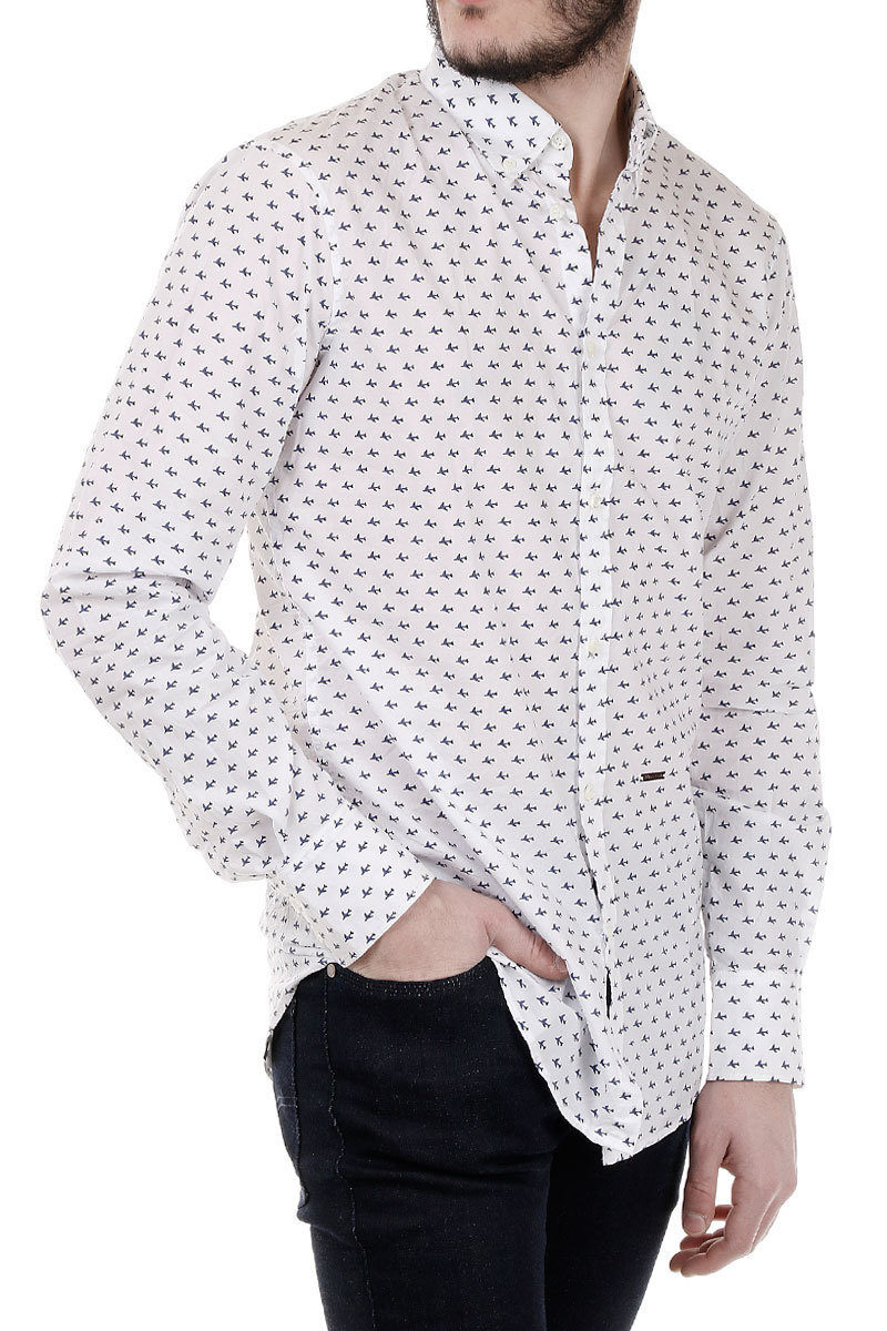 9bcd81972e Dsquared2 Airplanes Patterned Cotton Shirt men - Glamood Outlet