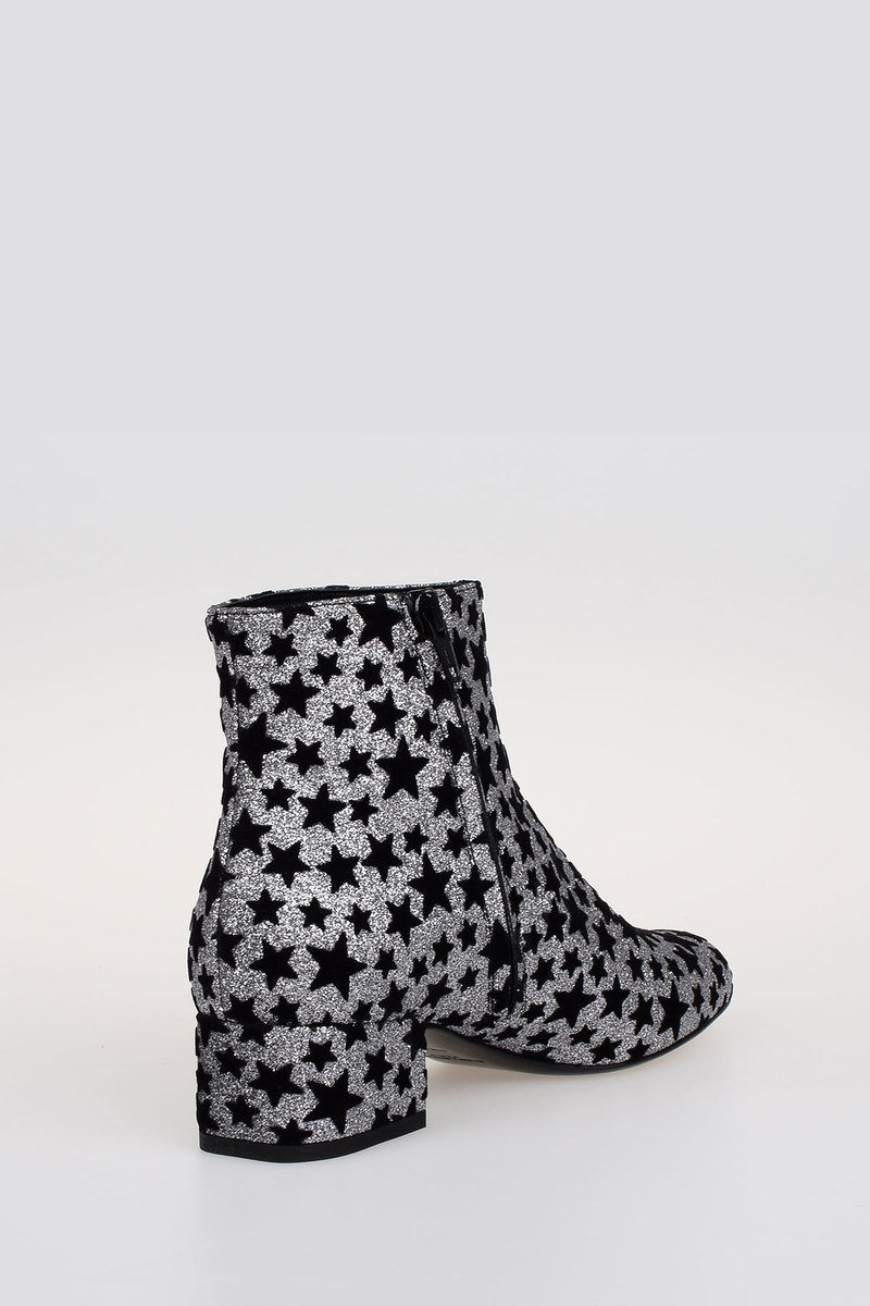 31946f9398a Saint Laurent Ankle Boots BRIGHTNESS ASTER with Glitter Stars women ...