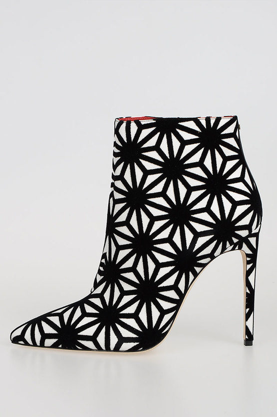 Ankle Boots in Pelle e Velluto