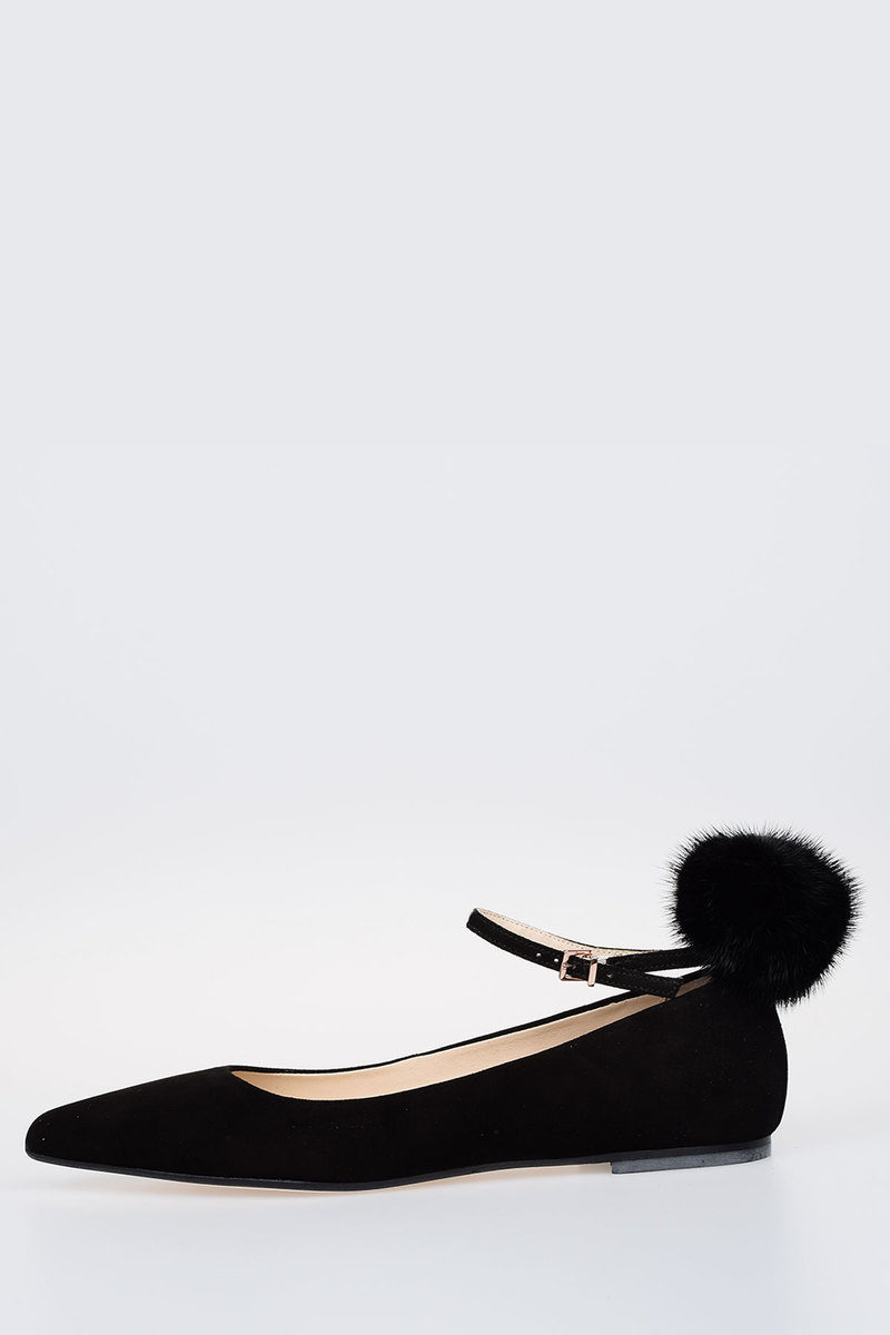 Ballet Flat ANNELUCIE with real fur Fall/winter Anna Baiguera GMVqhmI