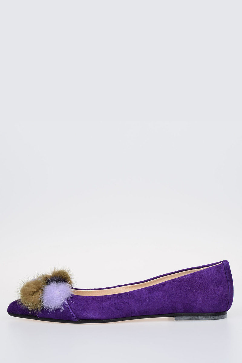 Ballet Flat ANNEJOLIE with real fur Fall/winter Anna Baiguera FX9FuI5