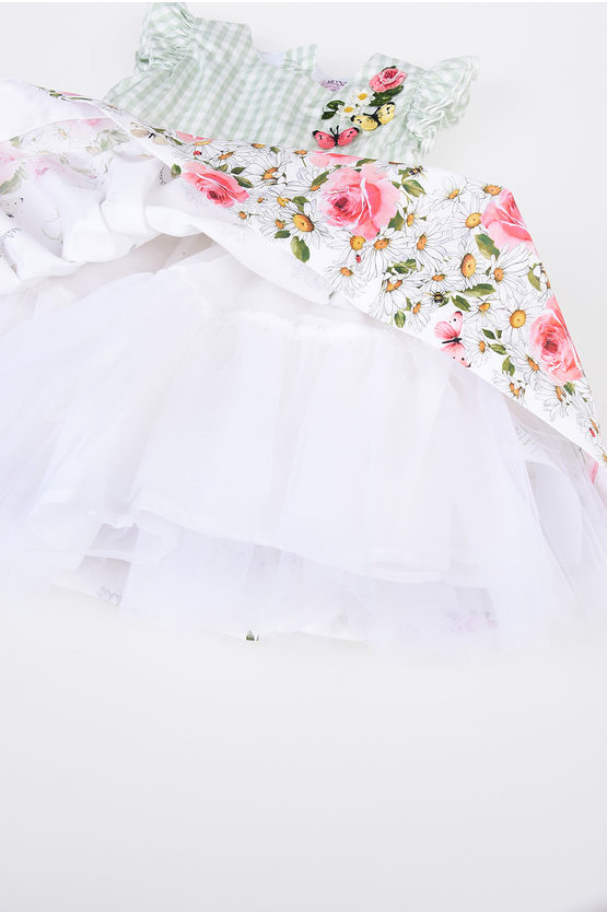 BEBè Daisy And Butterfly Tulle Dress