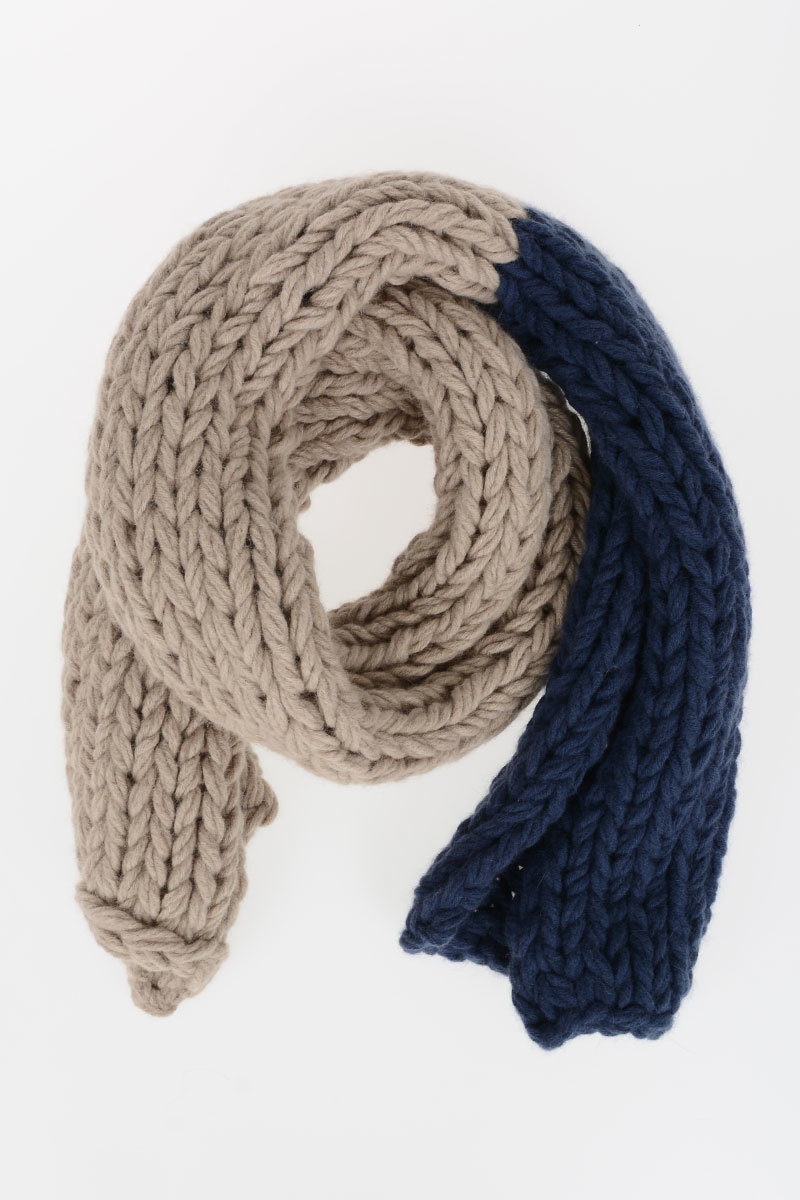 Maurizio Pecoraro Bicolor Knitted Scarf Women Glamood Outlet