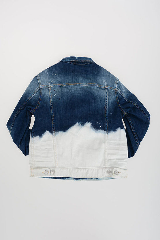 Bicolor Stretch Denim Jacket