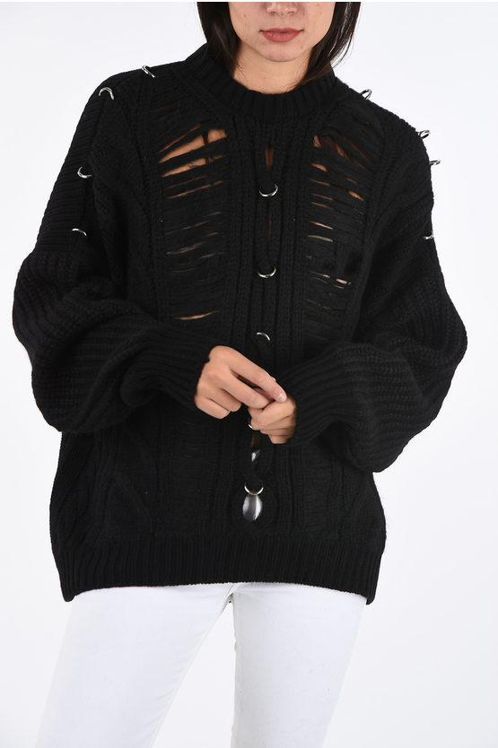 Diesel BLACK GOLD U-Shape Backline Aran MEBLY Sweater ...