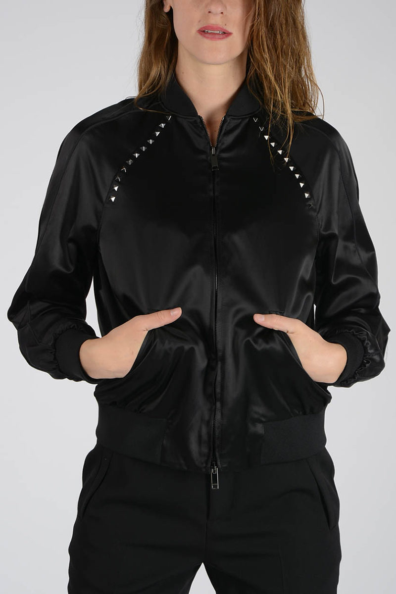 donna Bomber Valentino Glamood Borchie con Outlet dq6t6