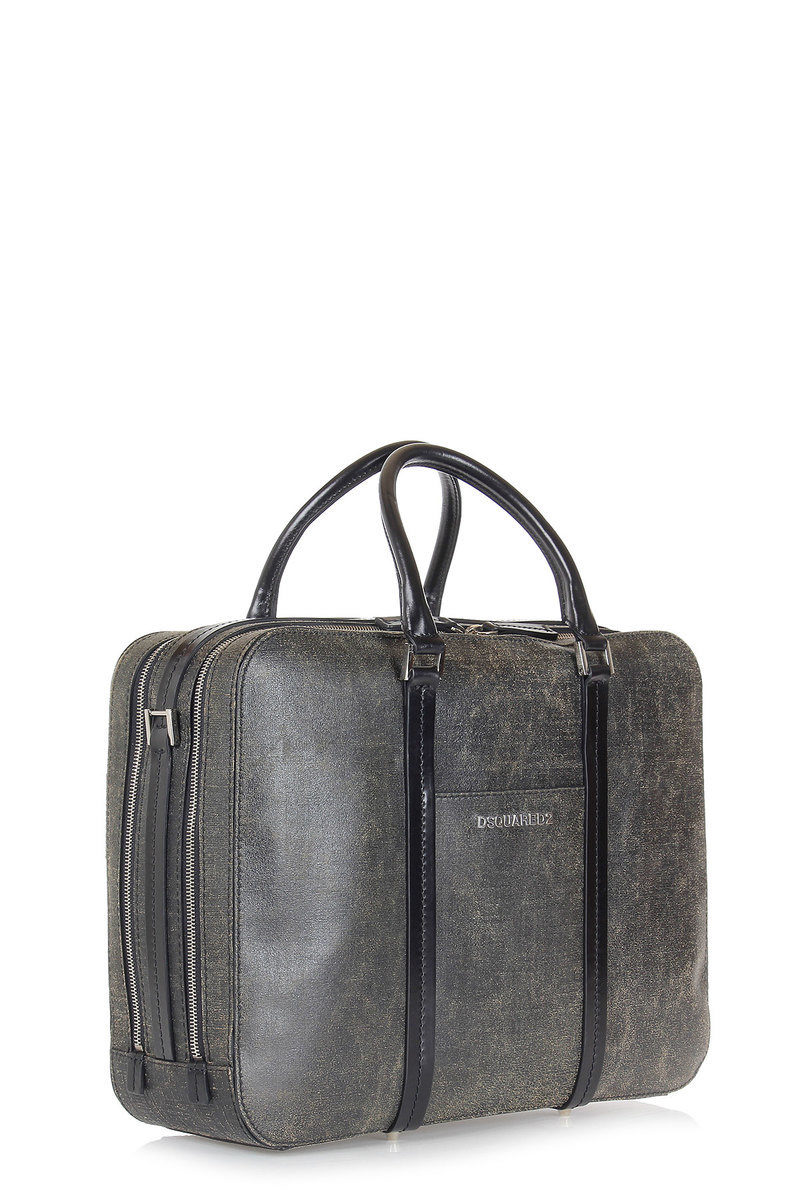 Dsquared2 Borsa a Mano in Pelle Vintage uomo - Glamood Outlet becb21d23d3
