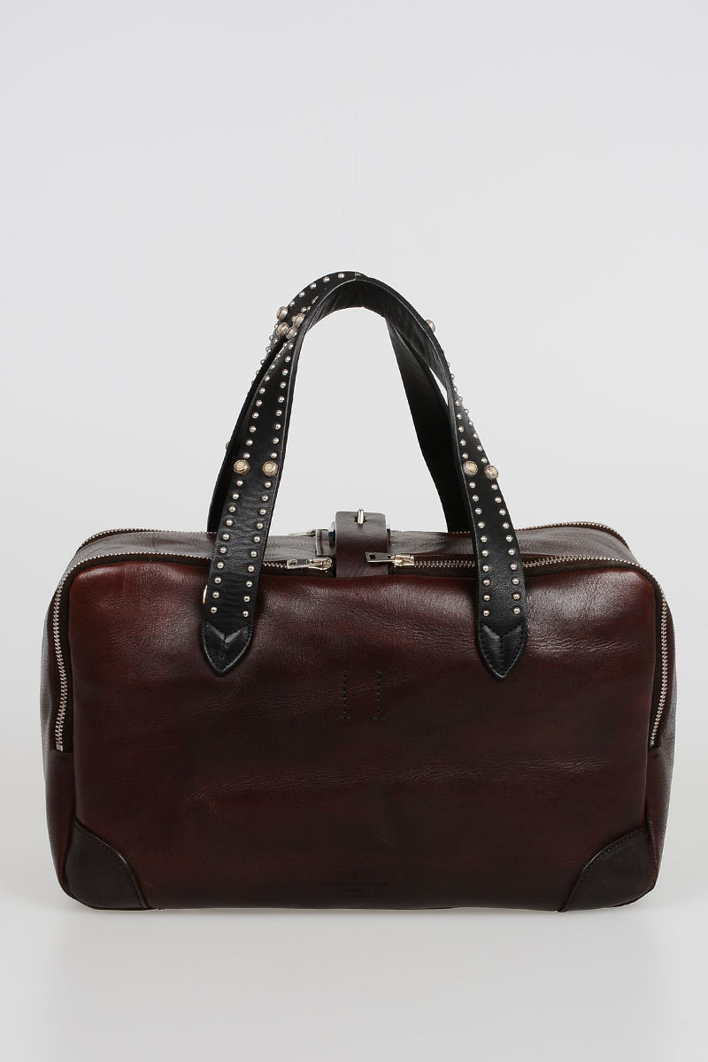 Golden Goose Borsa EQUIPAGE in Pelle con Borchie donna - Glamood Outlet 59786c1b1b1