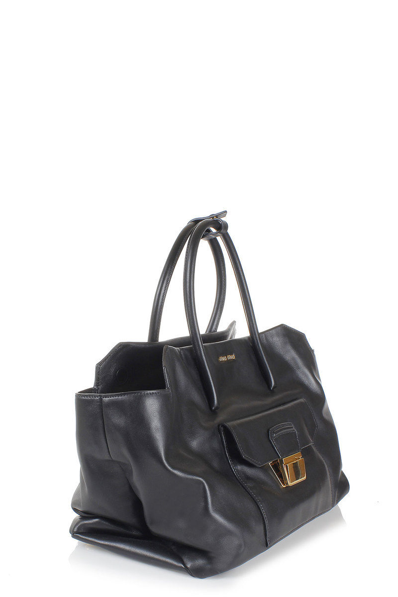 5c69313c1f Miu Miu Borsa Shopping in Pelle con Tracolla donna - Glamood Outlet