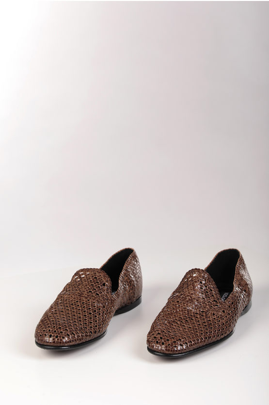 Braided Leather FLORIO Loafers