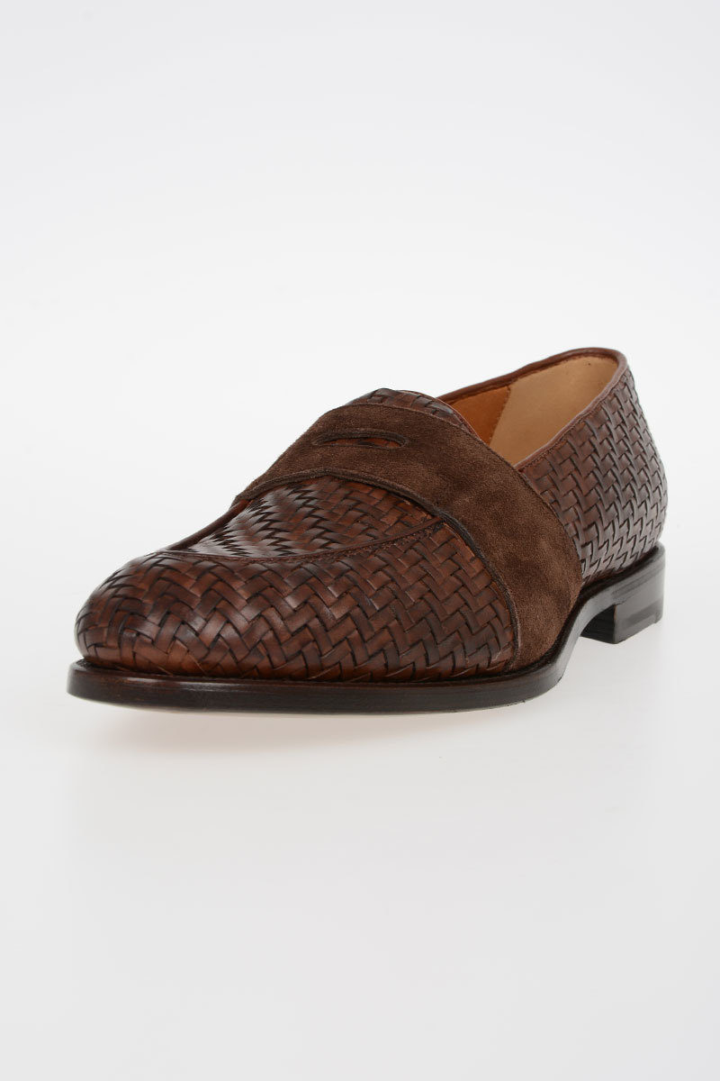 45f99e67436d1 Barbanera Braided Leather GUTTUSO Loafers men - Glamood Outlet