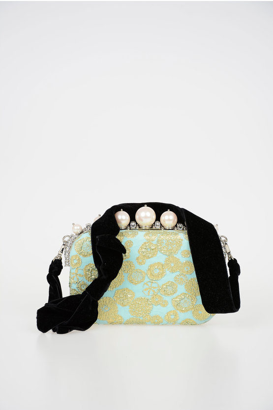 Broccato and Strass Pochette