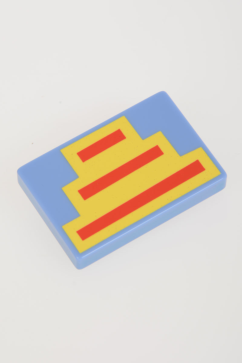 Brooch Yellow Red Blue