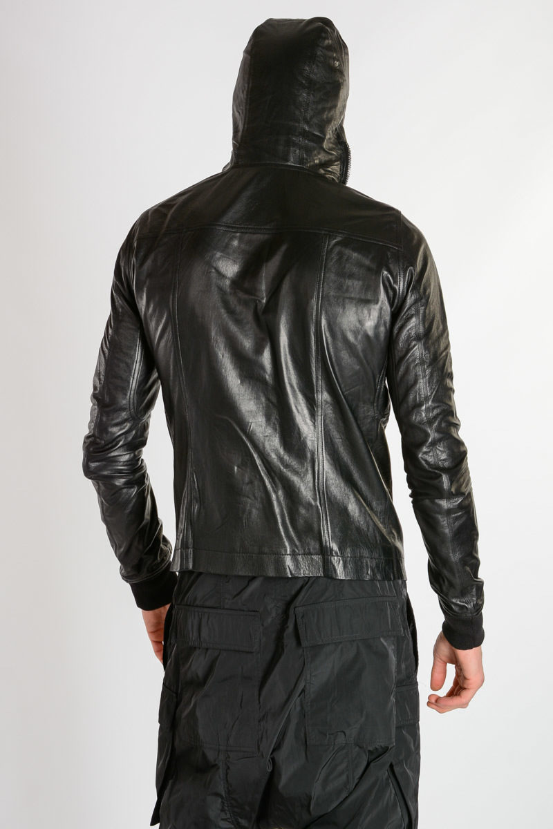 Bullet Jacket Hooded Hooded Bullet Leather Jacket Bullet Hooded Leather qqBfw4R7