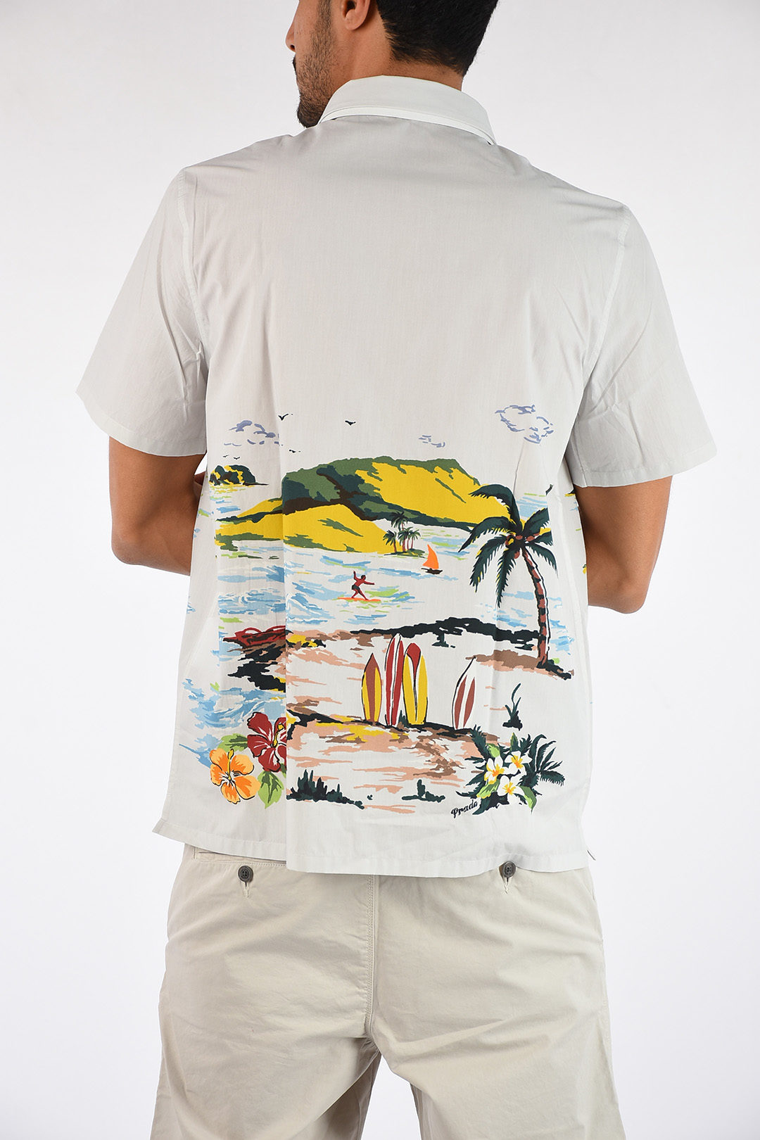 huge selection of d809f deff7 Camicia Stampa Hawaii beach
