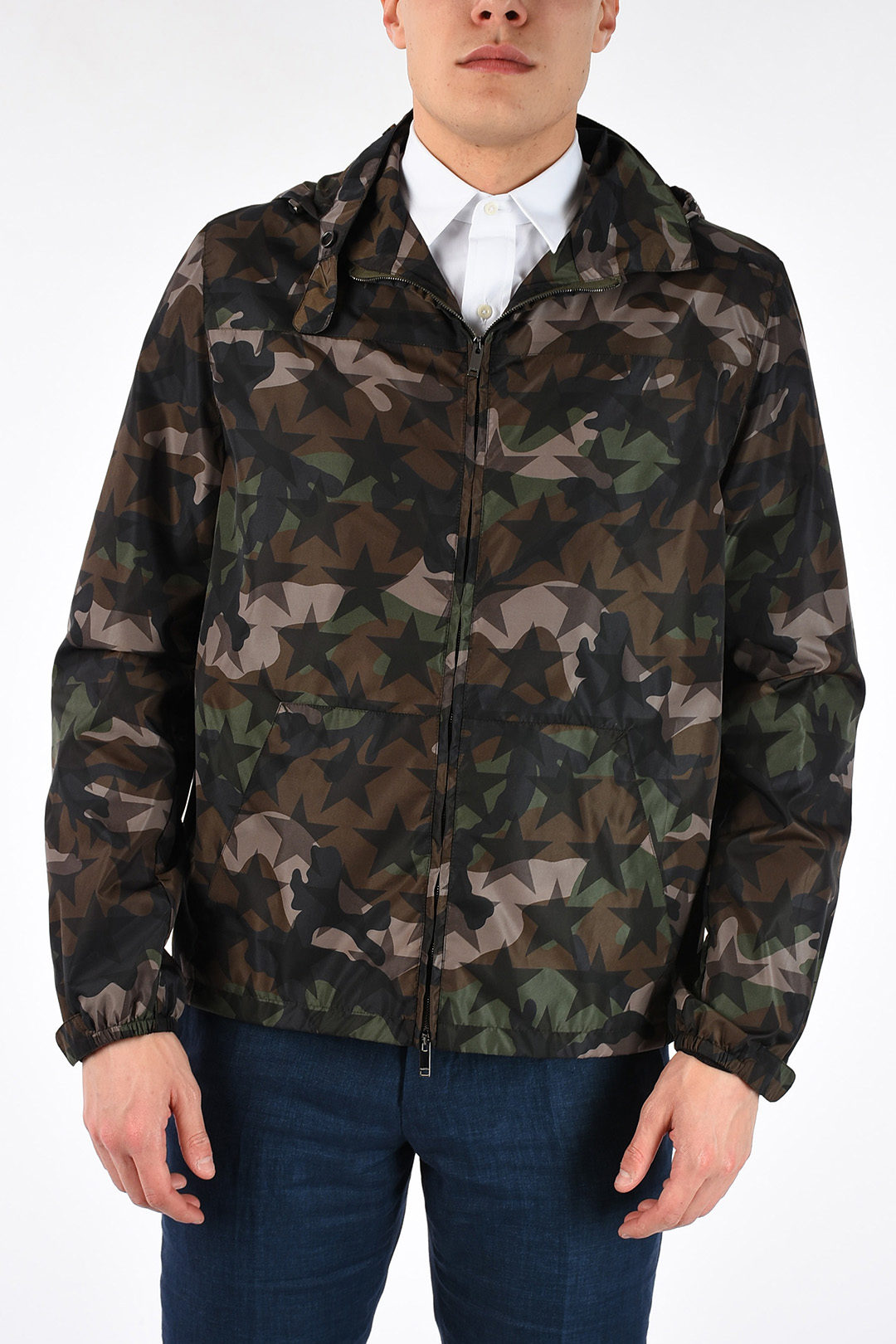 d42be535c4789 Valentino Camouflage Jacket with Stars men - Glamood Outlet