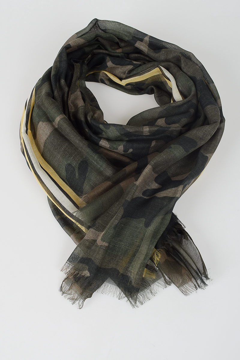 74b096724f98 Valentino Camouflage Printed Scarf - Glamood Outlet