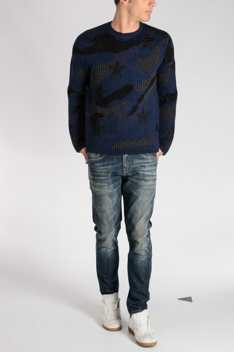 cf497a6d7cf36 Valentino Camouflage Wool Sweater men - Glamood Outlet