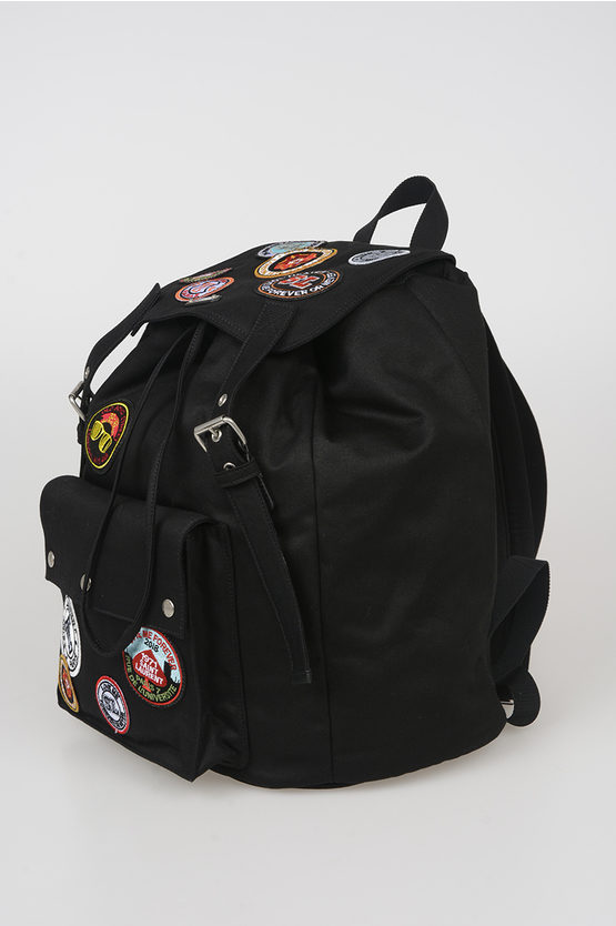 Canvas Backpack with Patches
