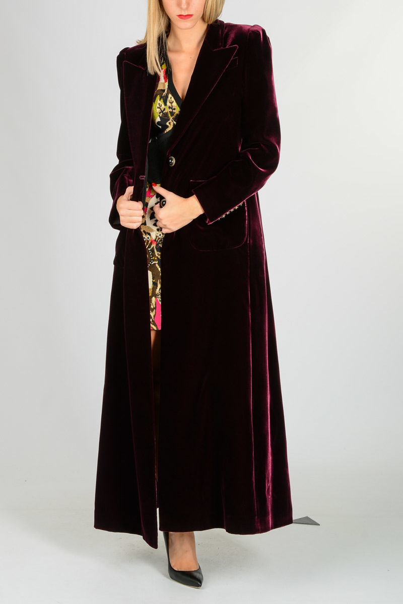 various colors 2e80c 32d37 Cappotto in Velluto