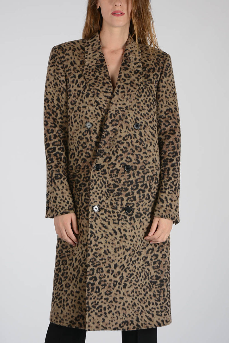 Saint Laurent Cappotto Leopardato donna - Glamood Outlet 2516e3d3e4a