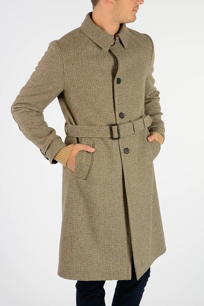 detailed look 636db 19cd3 Cappotto SHETLAND QUADRE in Lana Vergine
