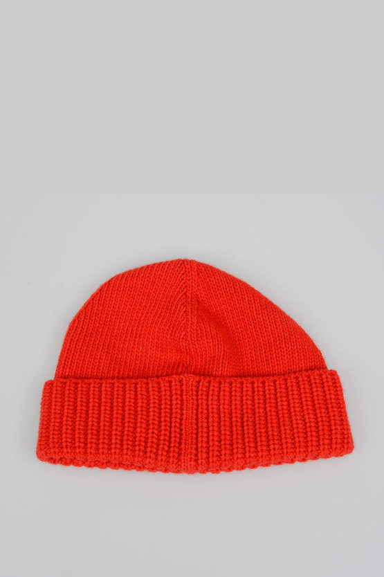 Cat Patch Ribbed Beanie Hat