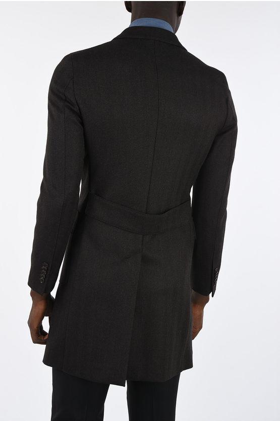 CC COLLECTION 3 Button Herringbone Coat