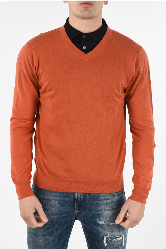 CC COLLECTION Cashmere V-neck Sweater
