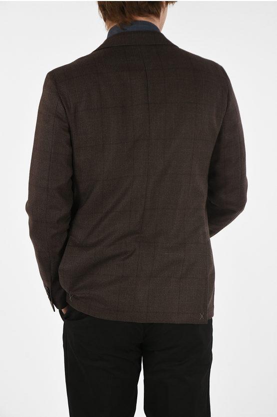 CC COLLECTION check cashmere drop 6R RIGHT blazer