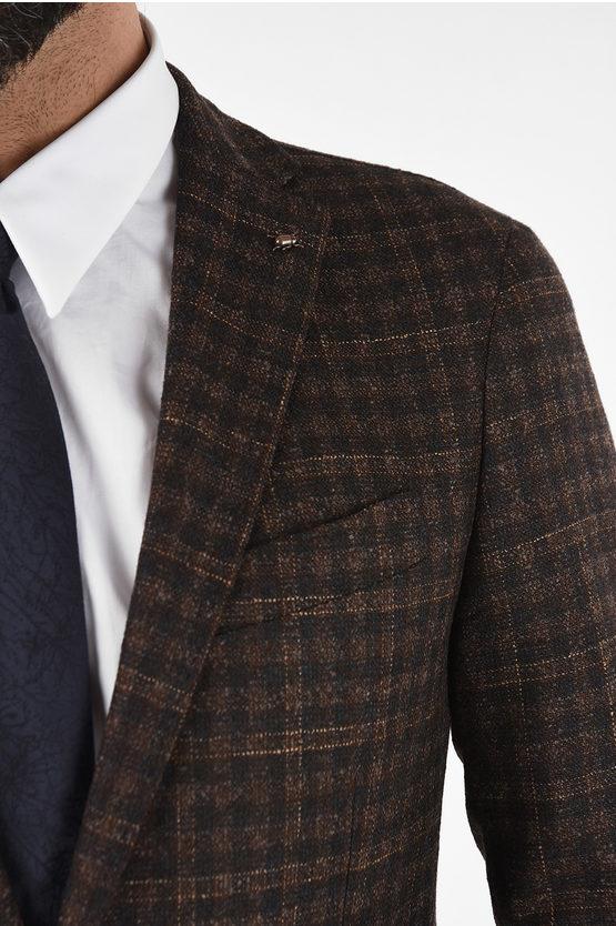 CC COLLECTION check drop 6R side vent notch lapel RIGHT blazer