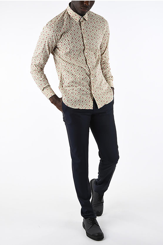 CC COLLECTION floral-printed Slim Fit shirt