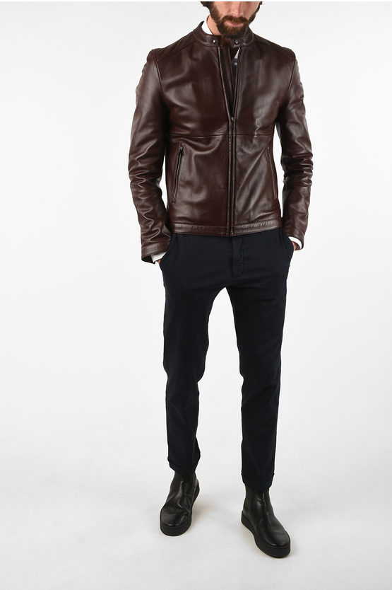 CC COLLECTION full zip leather ORGION jacket
