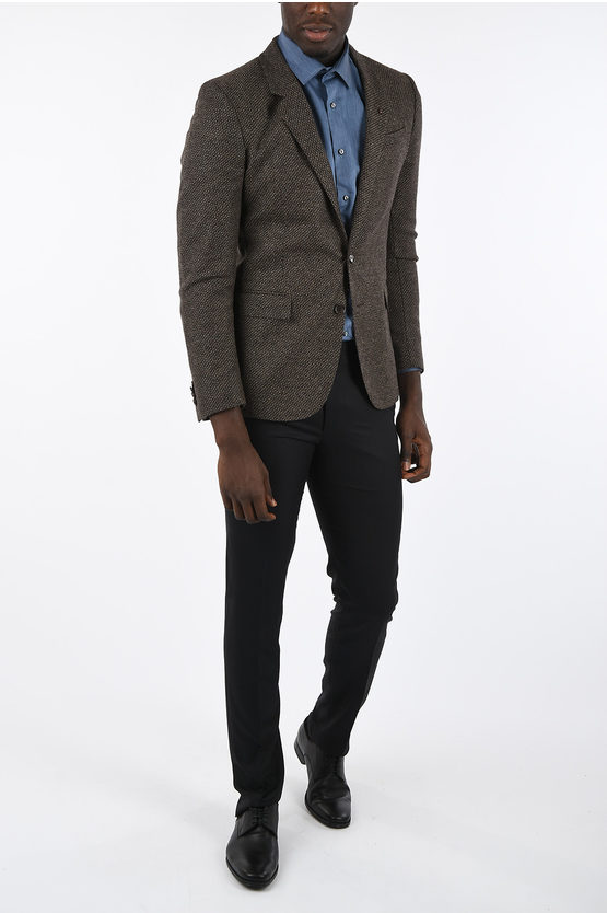 CC COLLECTION Hopsack 2 Button Blazer
