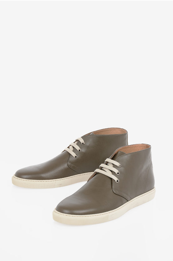 CC COLLECTION Leather High Sneakers