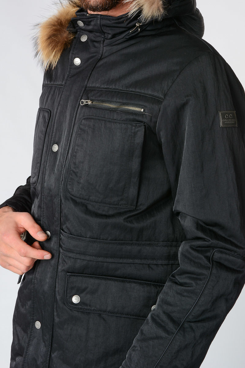 Detail Collection Jacket Cc With Fur Nylon Real e2HWED9IYb