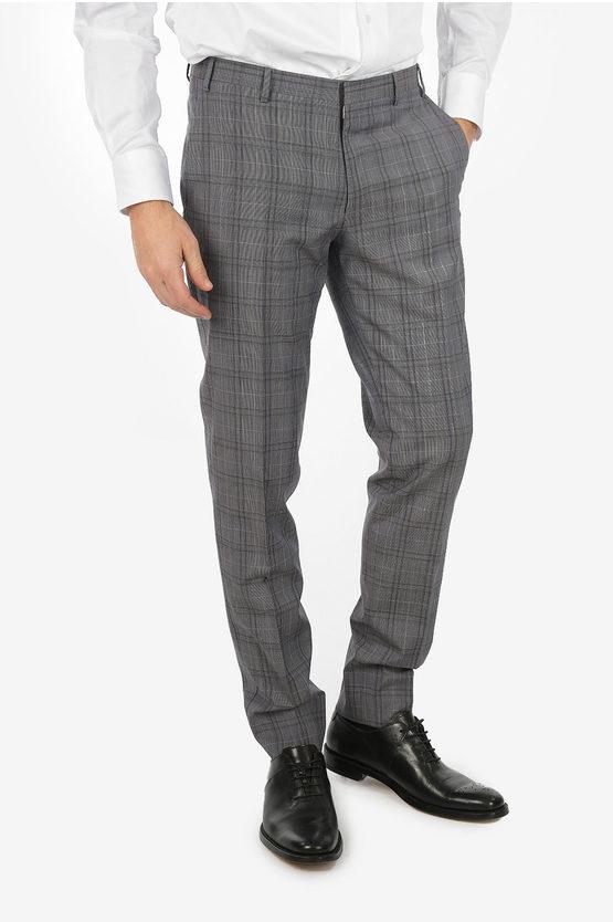 CC COLLECTION RESET plaid virgin wool suit