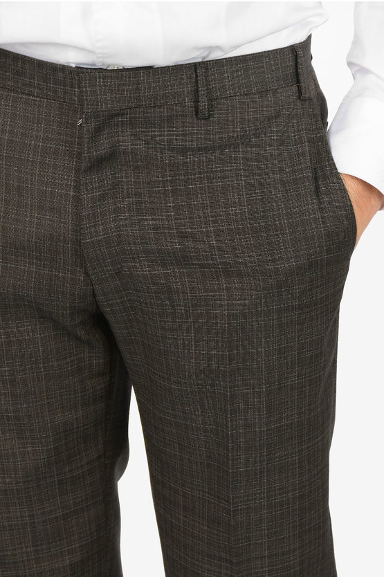 CC COLLECTION  REWARD tattersall check virgin wool suit