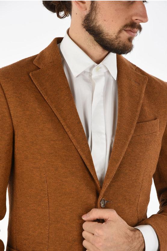 CC COLLECTION side vents hopsack RESET 2-button blazer