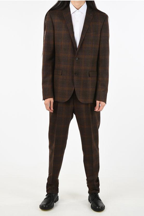 CC COLLECTION side vents plaid drop 8R 2-button RESET suit