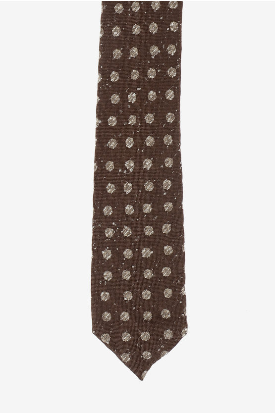CC COLLECTION Silk and Nylon Polka Dots Tie